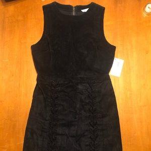 She and Sky Black Corduroy Dress